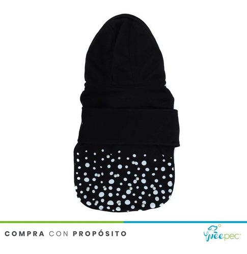 Imagen 1 de 5 de Abrigo Mod Puntos Negro (medium/s)