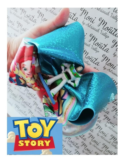 Moño Jumbo Niña Listones Estampados Toy Story Juguete