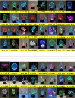 Acrílico 7 Colores Meditación Yoga 3d Led Usb Luz De Noche