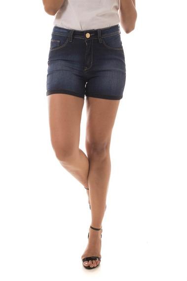 Shorts Jeans Osmoze Mid Rise Angie Plus Azul