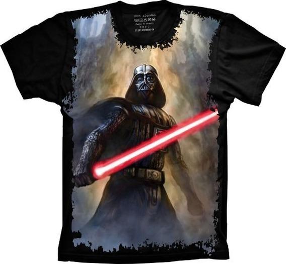 Camiseta Masculina Full Print Darth Vader Tamanhos Especiais