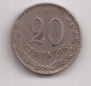 Paraguay Rara Moneda 20 Centavos Año 1903 !!!
