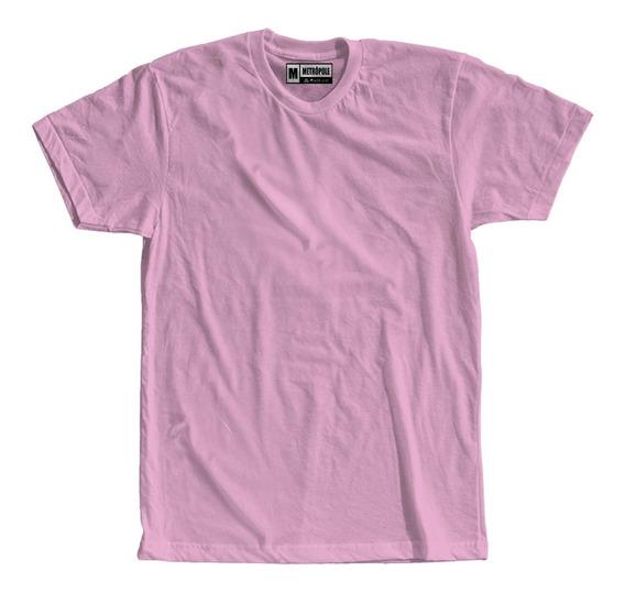 Camiseta Lisa Colorida Rosa Claro Bebe Preço Atacado Roupas