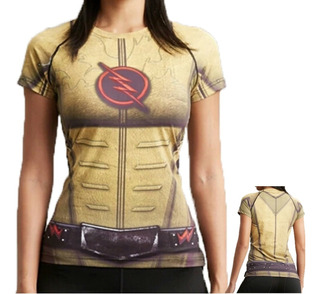Prom Camiseta Mujer Flash Reverso Gym Lycra Spandex Dc Comic