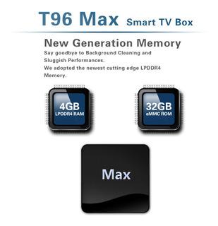 Smart Box T96 Max Android 9.0 4g 32g 4k De Cuatro Núcleos