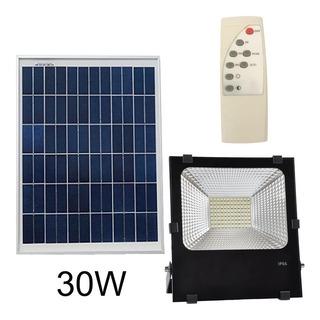 Reflector 30w Panel Solar Led Exterior Ip66 Neu Aluminio