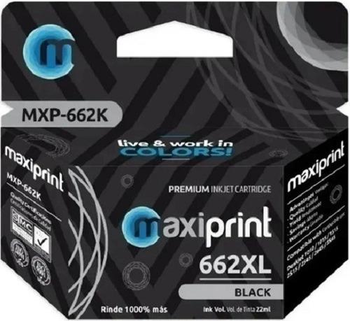 Cartucho Compatible Hp Marca Maxiprint 662 Negro Xl
