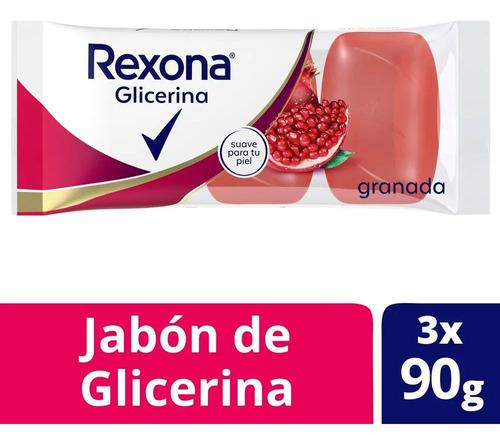 Jabon De Glicerina Rexona Pack 3 X 90 G Granada