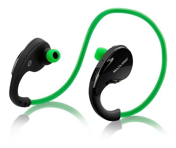 Fone De Ouvido Multilaser Arco Sport Bt Para Celular Verde