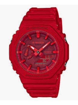 Relogio G-shock Ga-2100-4 Fino Pequeno Ga 2100 Vermelho