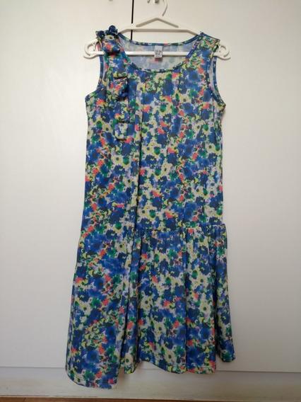 Vestido Infantil Feminino Zara Kids 13-14 Estampado Roupa