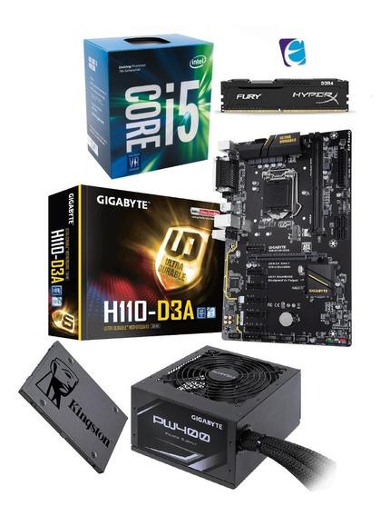 Kit Intel Core I5 7400 Mb H110 D3a 8gb Fury Ssd120 Pw400 I