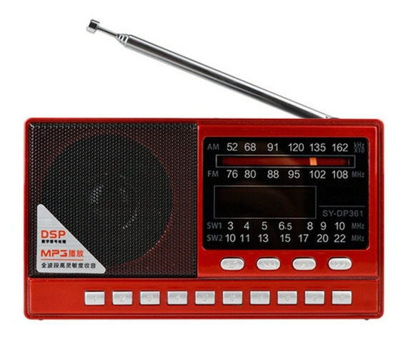 Rádio Receptor Merenda Sy-dp361 Am/fm Stéreo/sw Leitor Mp3