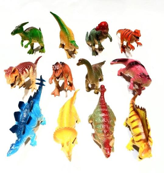 Dinosaurios Paquete De 12 Piezas, Juguete Plastico Suave