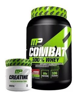 Kit Muscle Pharma Whey Mp Combat 100% 907g + Creatina 300g