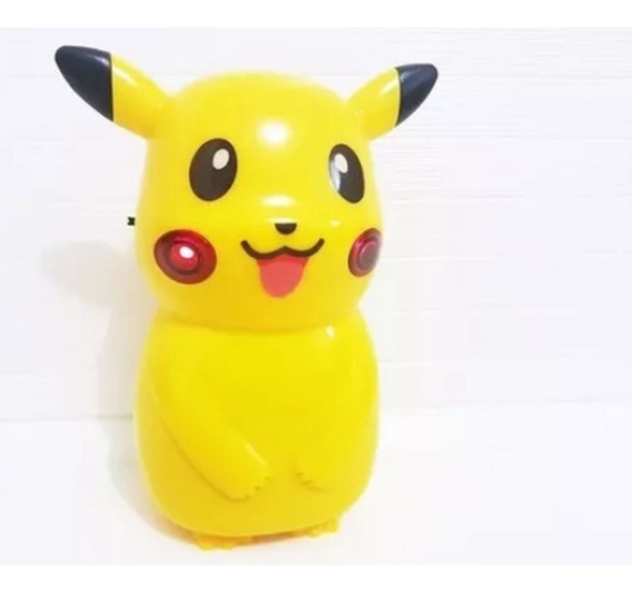 Caixa De Som Pokemon Pikachu Led Bluetooth, Mp3 Radio Fm Usb