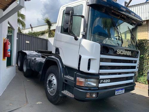 Scania 124 420 6x4 Cavalo, Un Dono Motor Novo  Ar Cond.