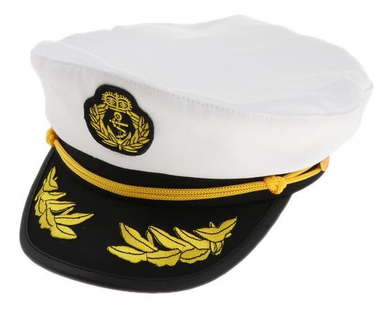 Captain Yacht Hat Algodão Boné Marinheiro Para Adultos, Ajus