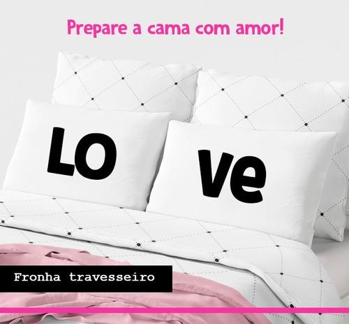b08eb560e77e6a Dia Dos Namorados -par De Fronhas Travesseiro - Preço Baixo!