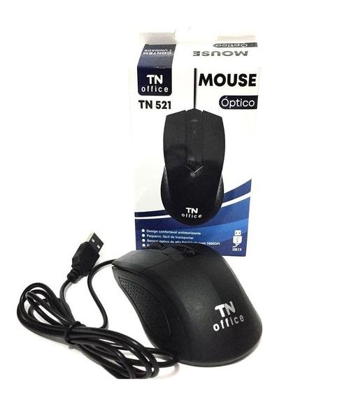 Mouse Com Fio Óptico Tn Office Tn521