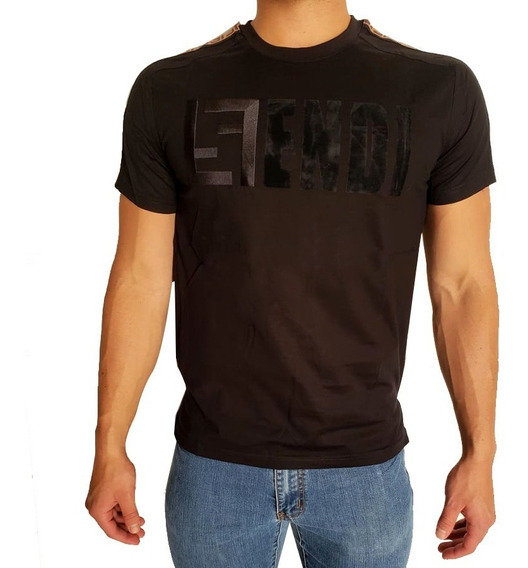 Playera De Importacion Estampada Fendi Caballero Black Brown