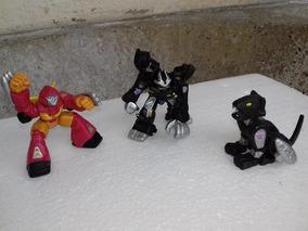 Mini Transformers De Borracha Hasbro 6 Cm - 3 Peças Robos