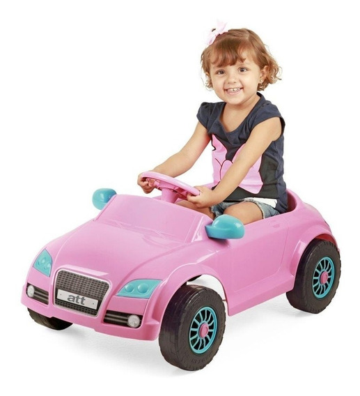 Carro Infantil A Pedal Audi Tt Rosa Menina Home Play Xplast