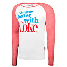 Playera Casual Cocacola Hombre Manga Larga Blanco 76918 Dtt