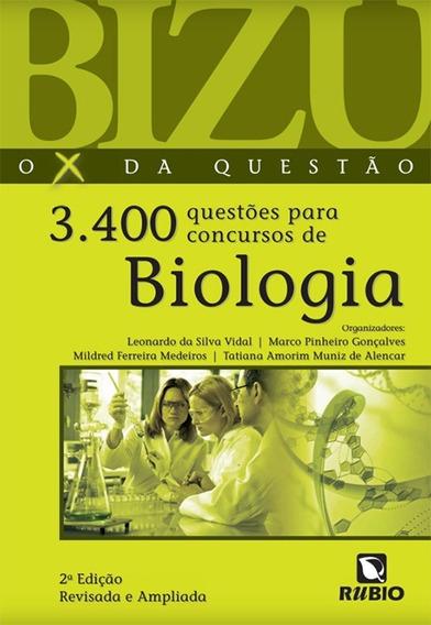 Livro Bizu 3400 Questões Para Concursos De Biologia - Vidal