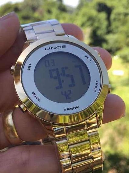 Relógio Feminino Digital Lince Dourado Sdph037l Frete Gratis