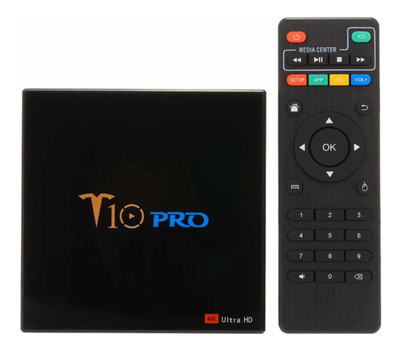 Tv Box T10 Pro Android 9.0 32gb Rom 4gb Ram Ultra Hd 4k