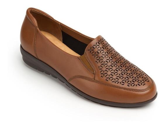 Calzado Zapato Dama Flexi Café 28402 Confort Casual Piel