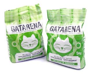 Arena Para Gatos Natural Aglutinante 5 Kilos Gatarena