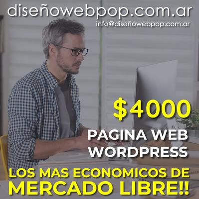 Diseñador Web. Pagina Web 48hs. Wordpress Auto Administrable