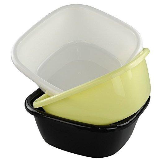 Eagrye 12 Quart Plástico Dishpan / Lavabo, Conjunto De 3