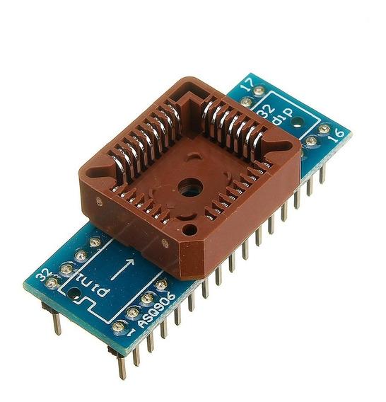 Adaptador Plcc32-dip32 Para Programadoras Eeprom Bios Ecu