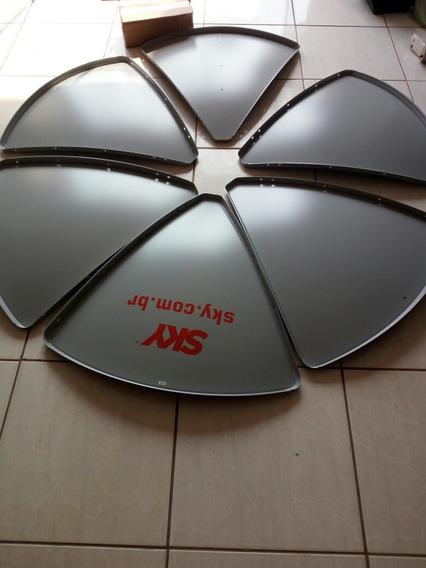 Antena De 1,5 Cm Cabo E Lnb Duplo