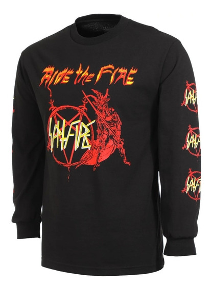 Playera Spitfire Longsleeve No Mercy Slv Blk/red