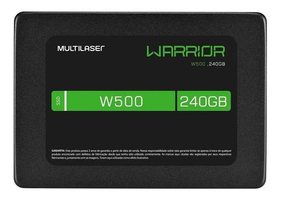 Ssd Gamer Warrior 2,5 Pol. 240gb W500 - Gravação 500 Mb/s