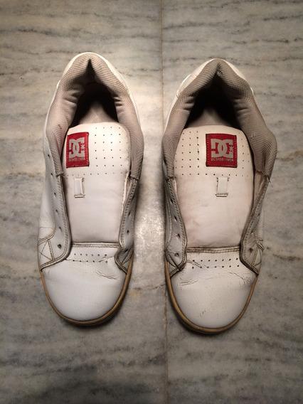 Zapatillas Dc Cuero Blancas