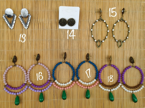 Kit 15 Pares De Brincos Biju Bijoux Atacado Revenda 1