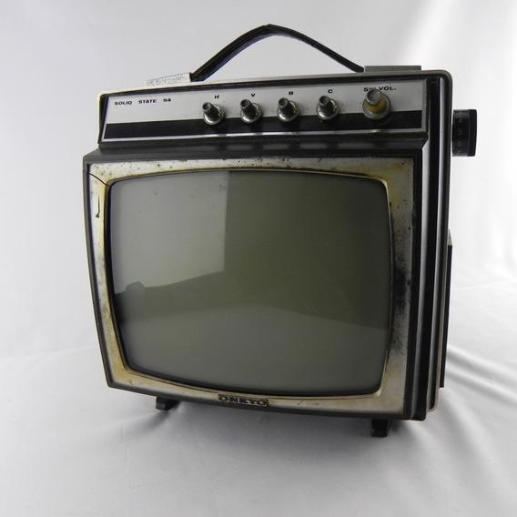 Tv Onkyo Transistor Tv 9a Antiga Rara 9 Osaka - Funcionando