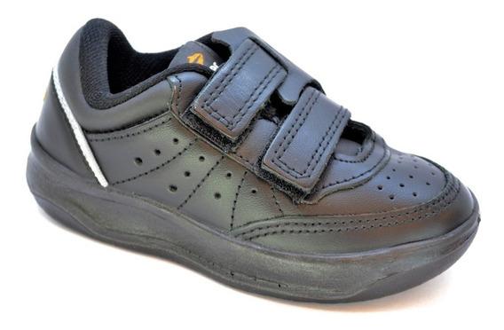 Zapatillas Topper X Forcer Con Abrojo Cuero Niños T 25 Al 34