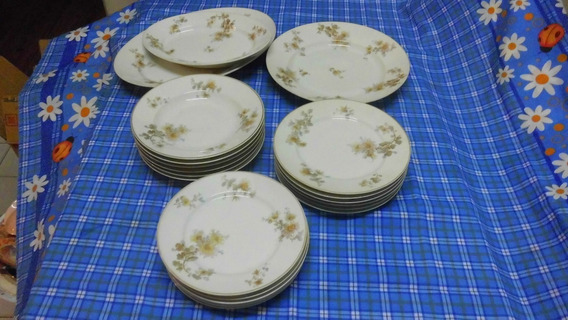 Juego De Mesa De Porcelana Limoges W.g. Impecable
