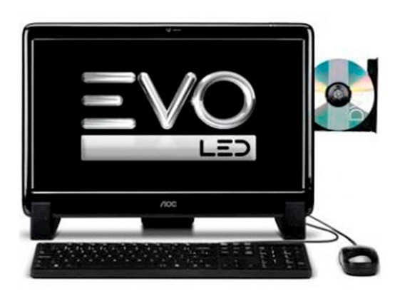All In One Aoc Evo 20525u-w8sl Amd Dual Core Tela Led 20