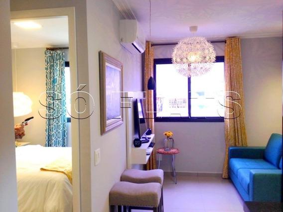Flat A 1 Quarteirão Da Av. Paulista, No Jd. Paulistano, 2 Dorms, 1 Vaga, 43m² - Sf30507