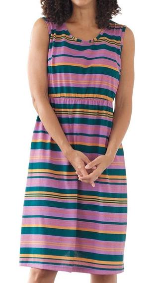 Vestido Saída De Praia Piscina Banho Plus Size Listrado