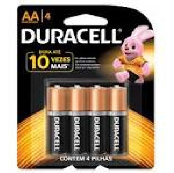 Pilha Duracell Alcalina Aa C/4