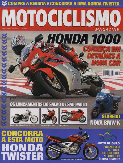 Motociclismo N°71 Honda Cbr 1000 Rr Yamaha Xvs 650 Drag Star