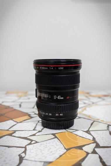 Lente Canon 17-40mm Série L + Disparador Remoto Vello